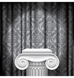 Capital on gray background vector