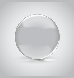 3D empty glass sphere vector image vector image