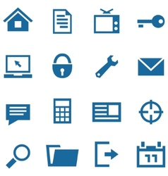 Icons set for web and mobile apps vector image