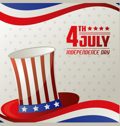 4th july independence day card memorial vector image vector image