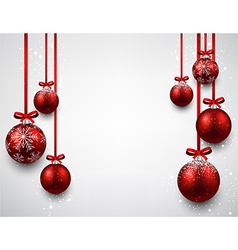 Background with red christmas balls vector