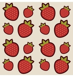 Background with red strawberries vector