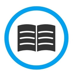 Open book rounded icon vector
