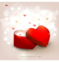 Open heart gift present vector