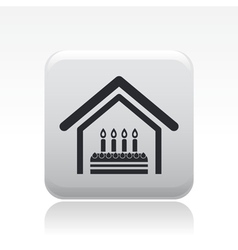 birthday home vector image