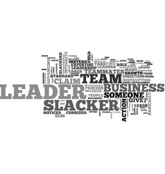Are you a leader or a slacker text word cloud vector
