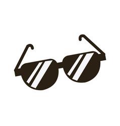 Cartoon sunglasses accessory fashion icon vector