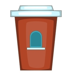 Coffee seller icon cartoon style vector
