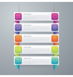 Colorful design for workflow layout vector