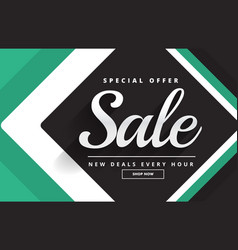 Create sale banner design for your product vector