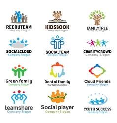 Crowds team business design vector