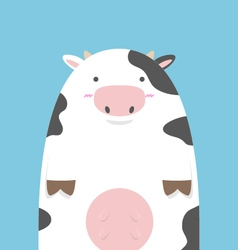 cute fat big cow vector image vector image