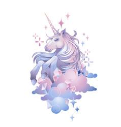 cute graphic unicorn vector image