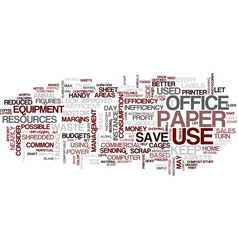 Efficiency in the office text background word vector