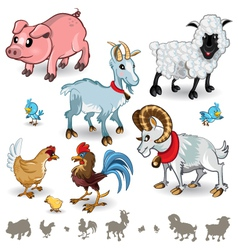Farm animals collection set 01 vector