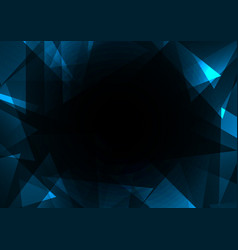 fracture frame abstract dark background vector image vector image
