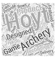 Hoyt archery word cloud concept vector