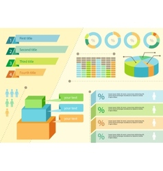 Infographics icons and elements for presentation vector image vector image