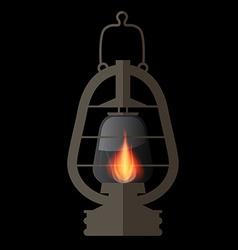 Lantern gas lamp vector