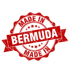 Made in bermuda round seal vector