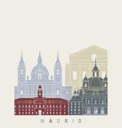 Madrid v2 skyline poster vector