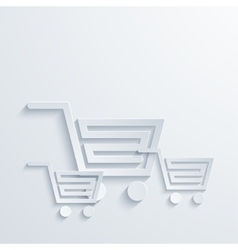 modern white shooping background vector image vector image