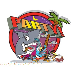 Party island vector image