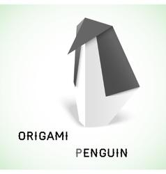 Penguin origami vector image vector image