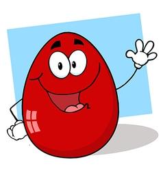 Royalty free rf clipart easter egg mascot cartoon vector