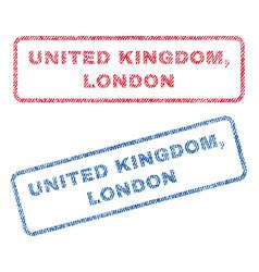 United kingdom london textile stamps vector
