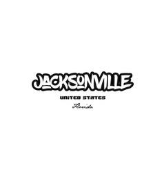 United states jacksonville florida city graffitti vector