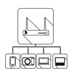 Video beam server icon stock vector