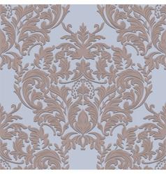Vintage damask baroque ornament floral pattern vector