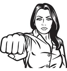 Woman punching vector