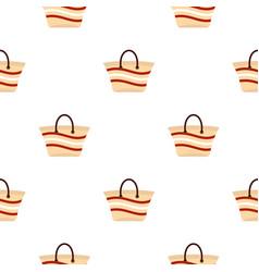 Women beach bag pattern flat vector