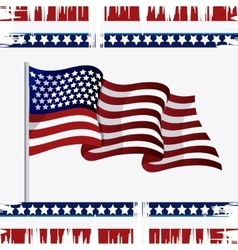 United states of america flag design vector