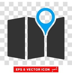 Map Eps Icon vector image