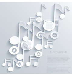 note icon background vector image