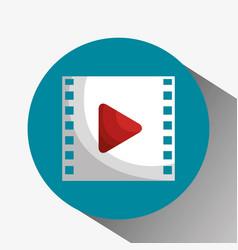 media film tape icon vector image