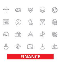 finance save money investor cash bank vector image