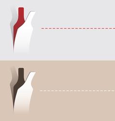 paper cut wine bottle vector image