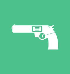 icon military handgun revolver vector image