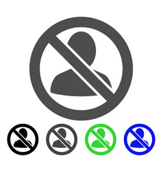 Restricted user flat icon vector