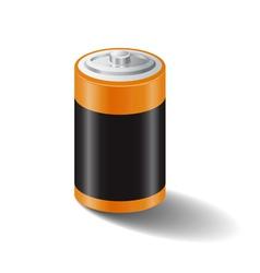battery icon white bg vector image