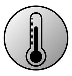 Thermometer button vector