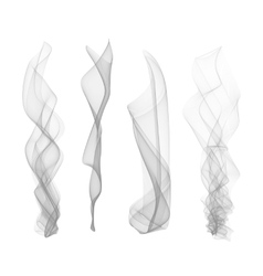 Set of smoke effect smooth flame background vector
