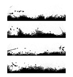 Four black frames blot vector