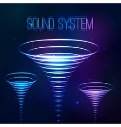 Sound shining cones at cosmic background vector