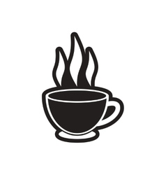 Stylish black and white icon indian tea cup vector