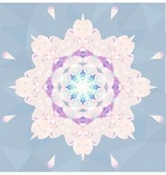 Circle lace ornamental snowflake vector image vector image